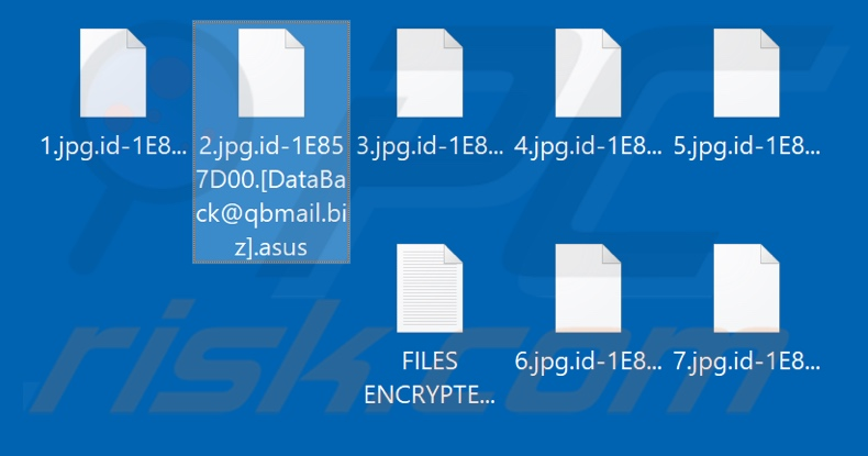 Files encrypted by Asus