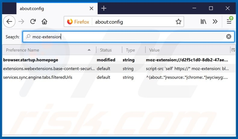 Removing search.betterconverterprotab.com from Mozilla Firefox default search engine