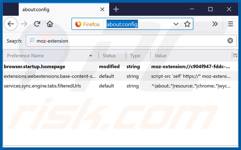Removing search.getbreakingnewstabnet.com from Mozilla Firefox default search engine
