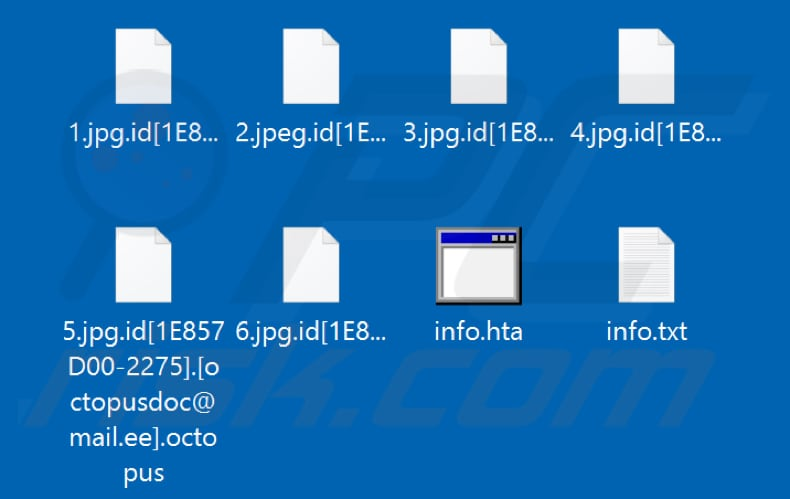 Files encrypted by Octopus