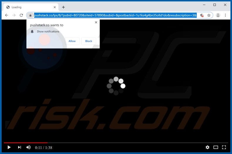 pushstack[.]co pop-up redirects