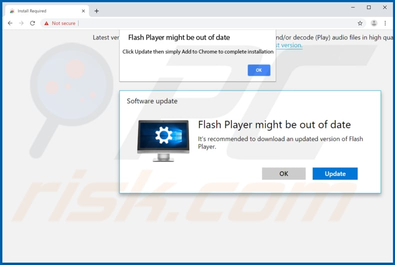 APP download page promotes fake Flash Player