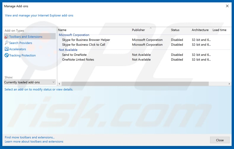 Removing shireamentsp[.]info ads from Internet Explorer step 2