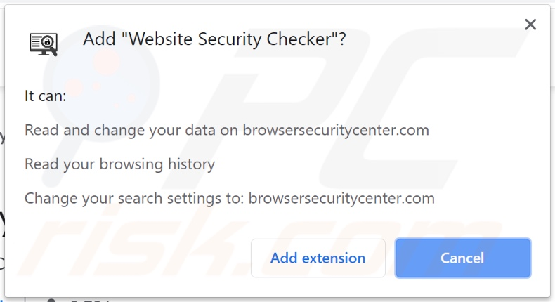 website security checker asking for permissions