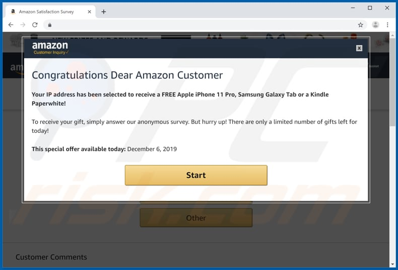 How to remove Congratulations Dear Amazon Customer POP-UP Scam - virus  removal guide (updated)
