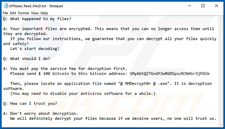 KesLan ransomware updated variant English note
