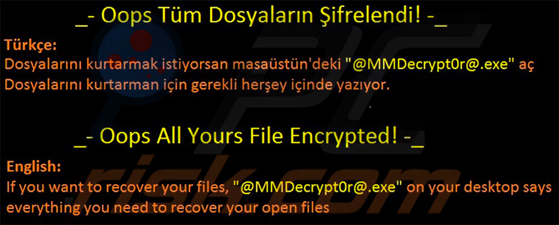 KesLan ransomware updated variant desktop wallpaper