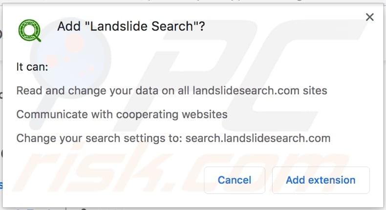 Landslide Search wants to access data