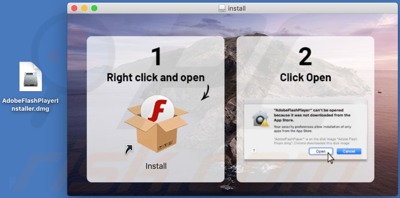 bestevervideoplayers[.]info scam fake flash update installer