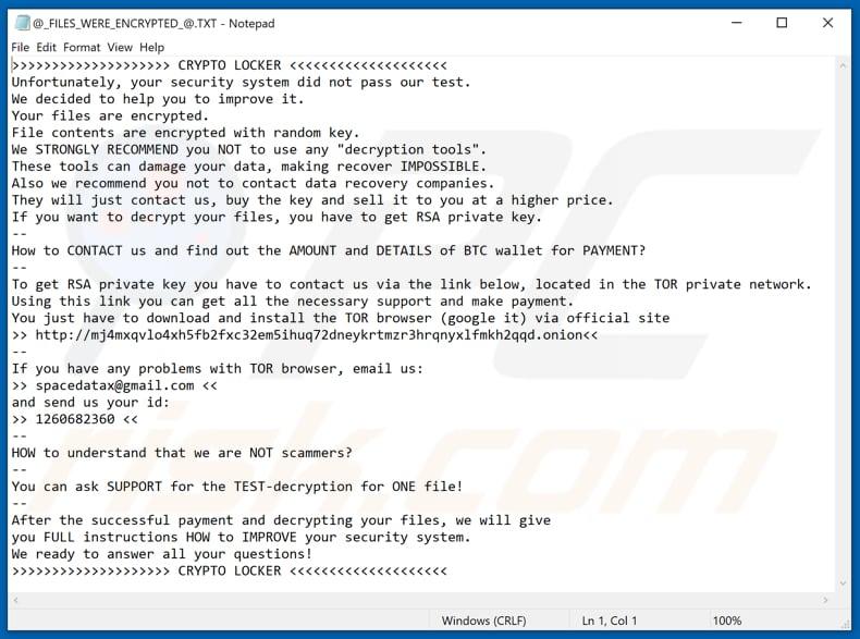 Windows Software Download Cryptolocker Help