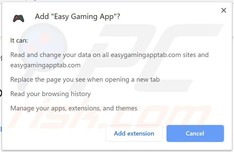 easy gaming app wants to access data