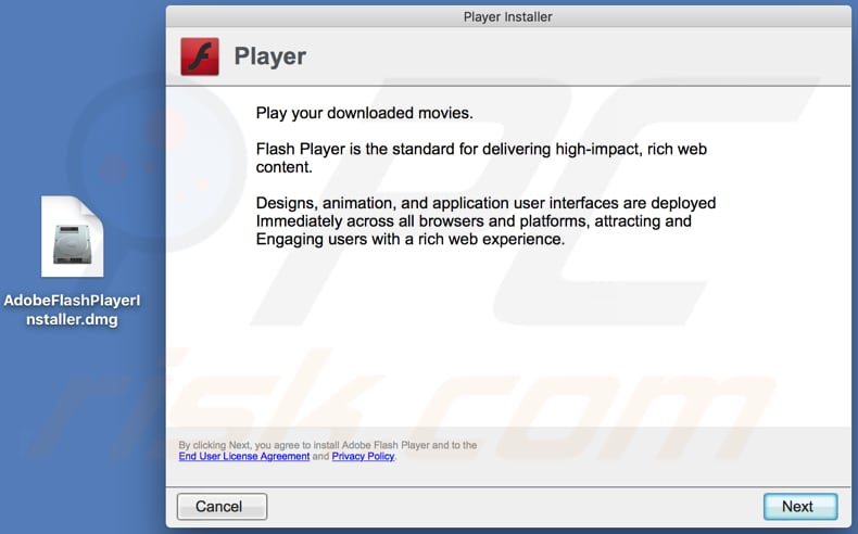 fake Adobe Flash Player installed downloded from thesafesoftwarevideoplayers.best