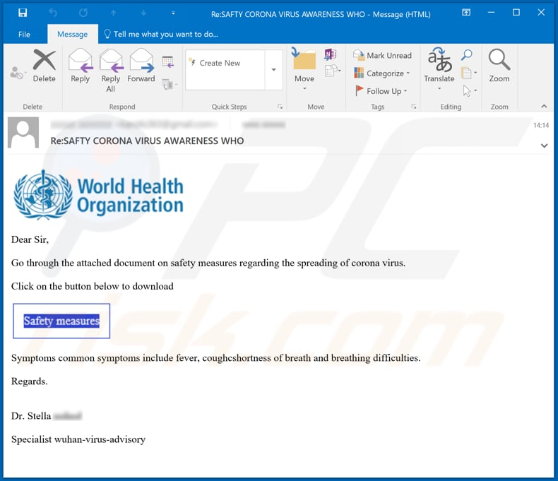 coronavirus email virus another variant