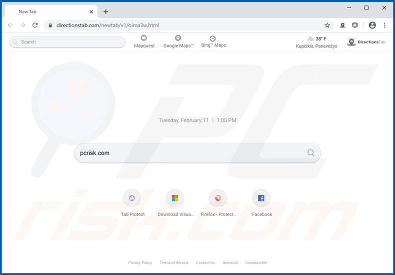 directionstab.com browser hijacker