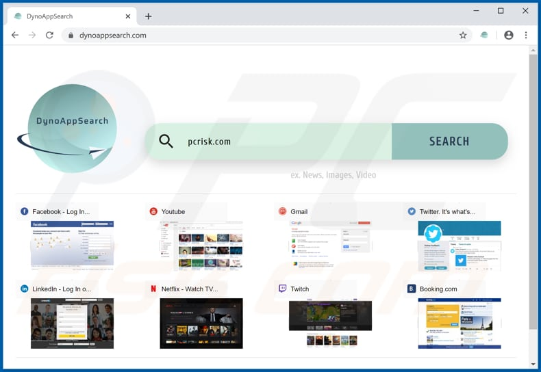 dynoappsearch.com browser hijacker