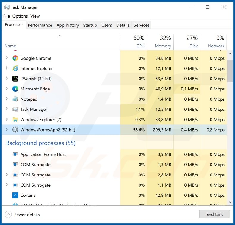 Corona-Virus-Map.com trojan process on task manager
