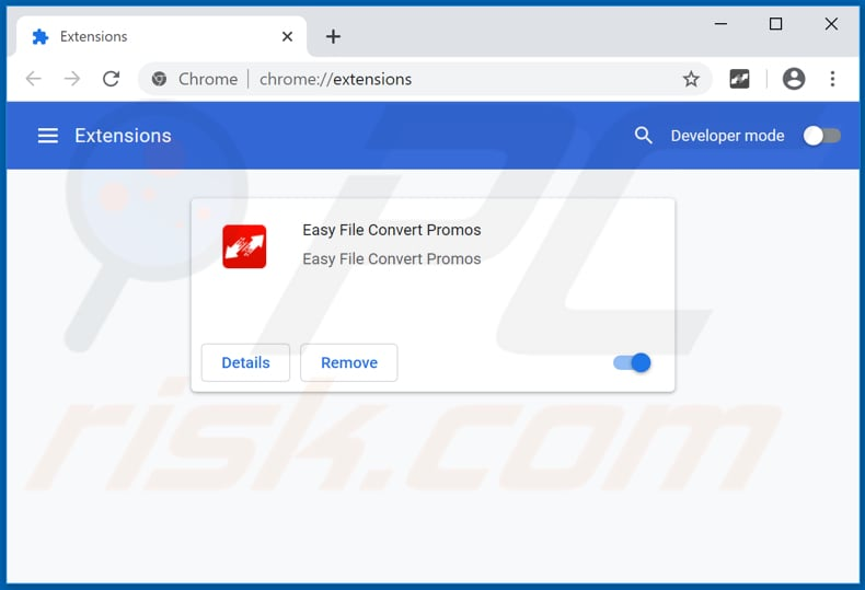 Removing Easy File Convert Promos ads from Google Chrome step 2