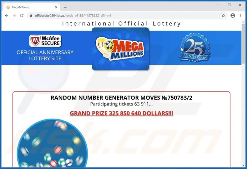 International Official Lottery scam