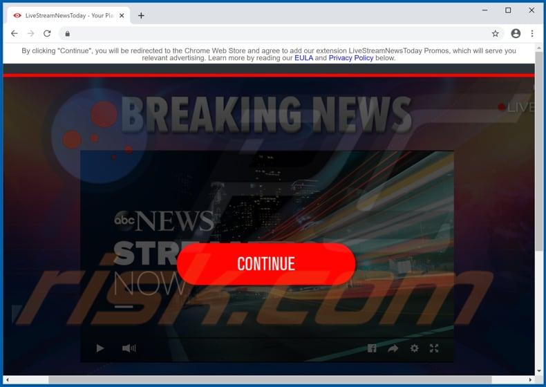 LiveStreamNewsToday Promos pop-up redirects