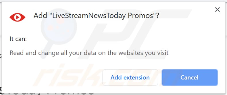 livestreamnewstoday promos adware asks for a permission to be installed