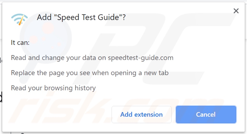 Speed Test Extension