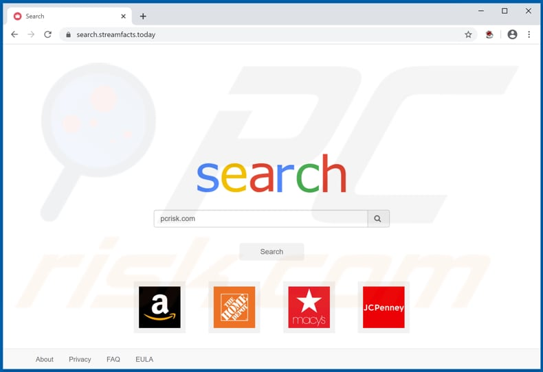 search.streamfacts.today browser hijacker