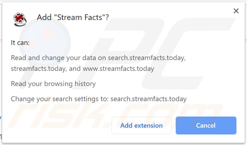 stream facts asks for a permission to be installed