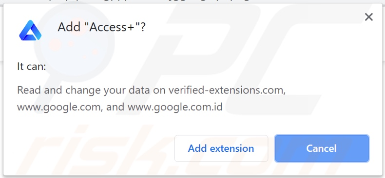 Access+ adware asking for permissions