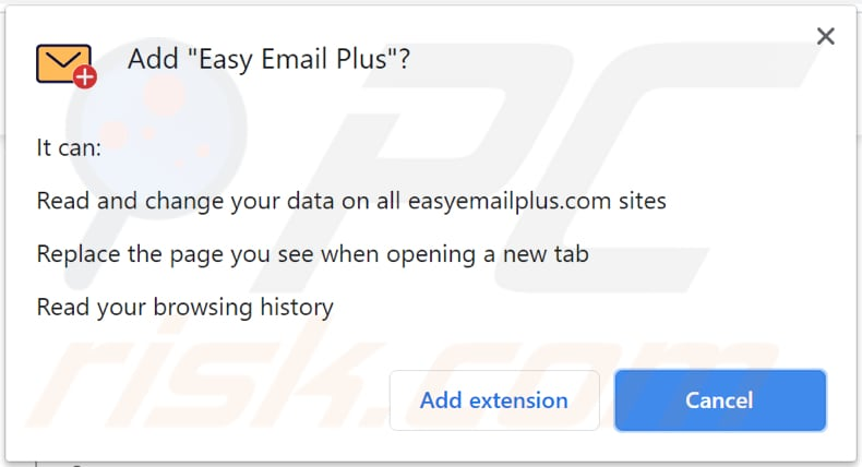 easy email plus browser hijacker permission