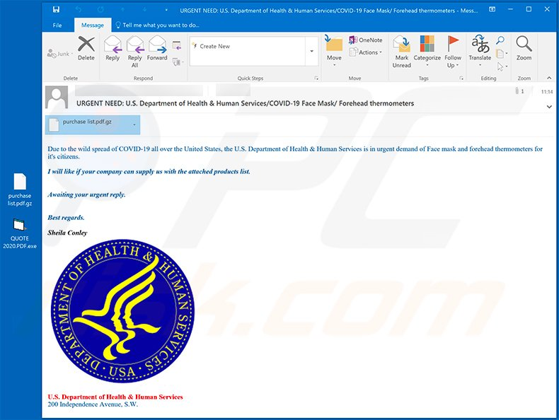 Coronavirus-related spam email used to spread GuLoader