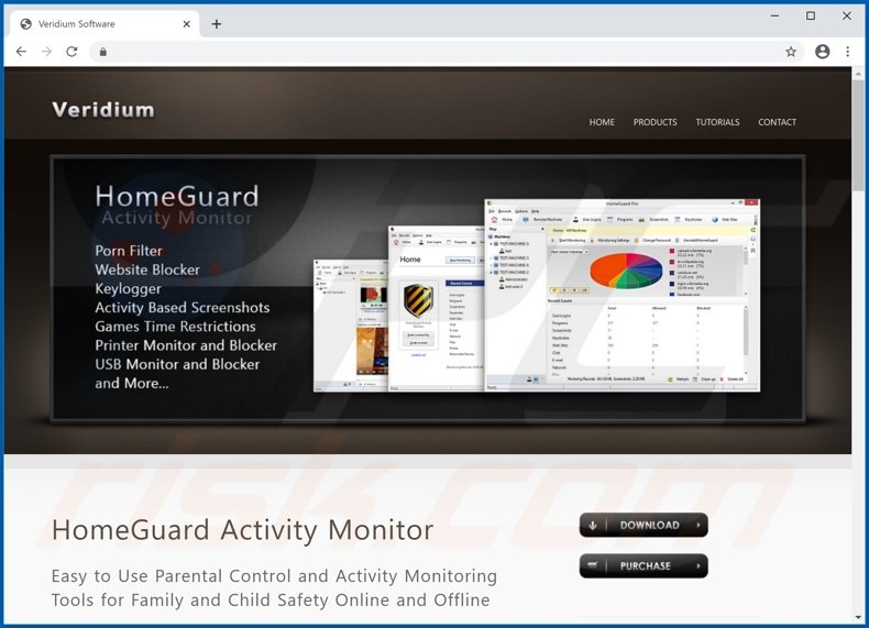 Website used to promote HomeGuard PUA
