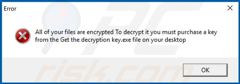 lock pop-up displayed once the encryption is over