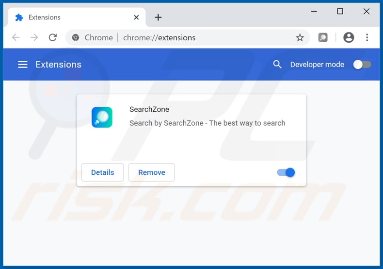 Removing feed.search-zone.com related Google Chrome extensions