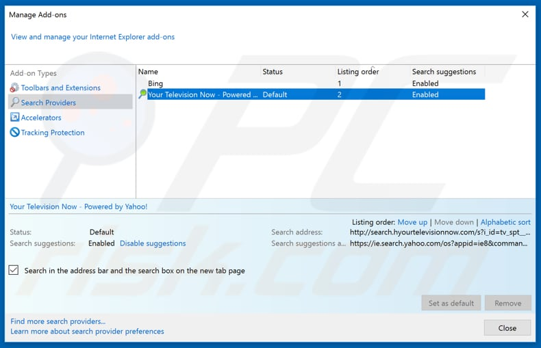 Removing feed.search-zone.com from Internet Explorer default search engine