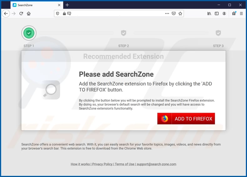 searchzone browser hijacker promoter firefox