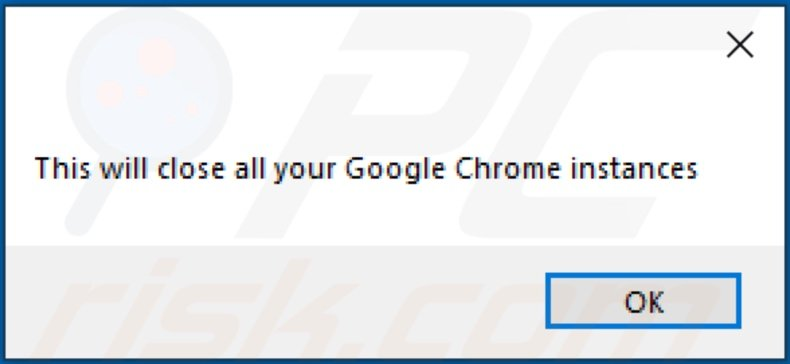 Pop-up after installation of select-search.com browser hijacker