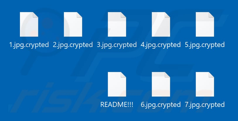 Files encrypted by ShkolotaCrypt ransomware (.crypted extension)