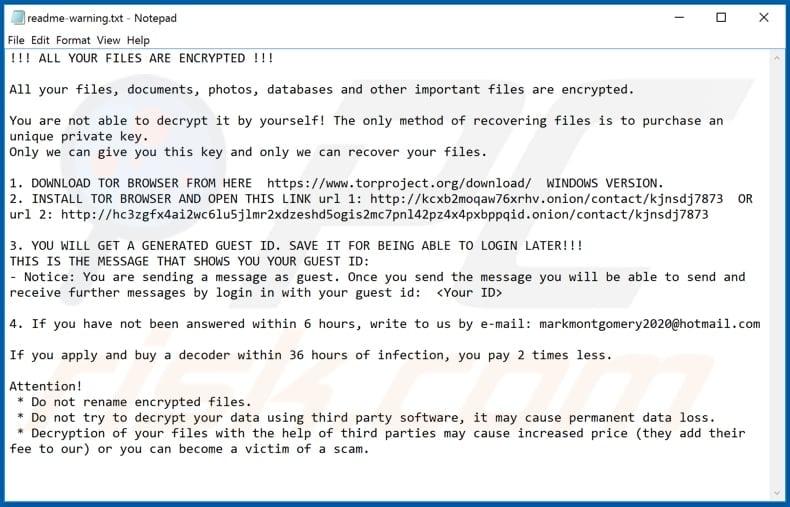 bitcoin ransomware e-mail
