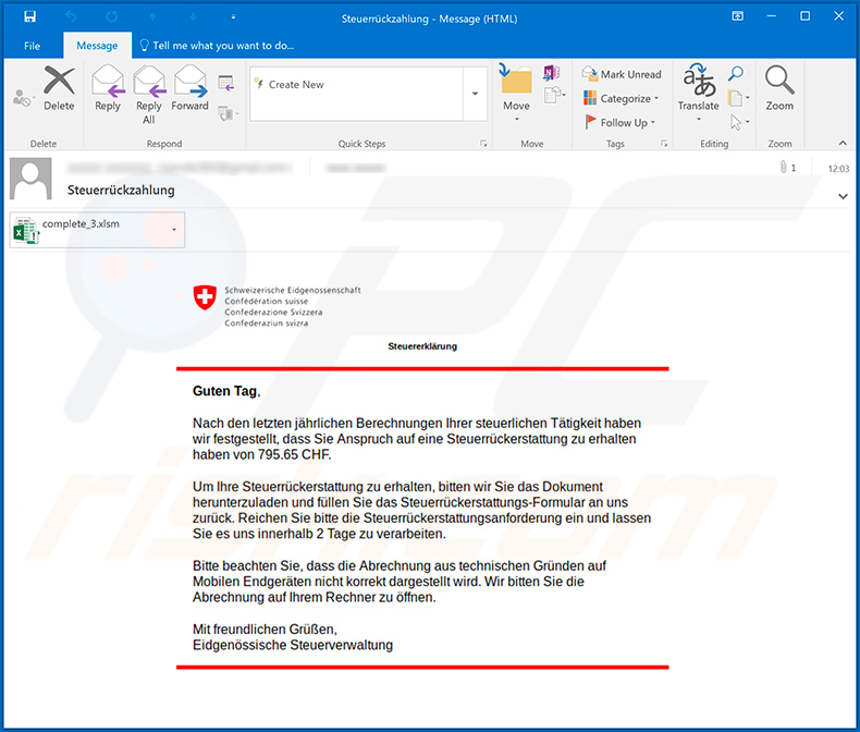 GuLoader malware-spreading spam email (2020-05-12)