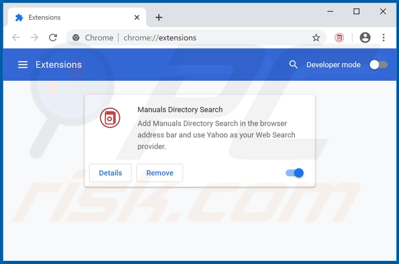 Removing search.manualsdirectory-api.org related Google Chrome extensions