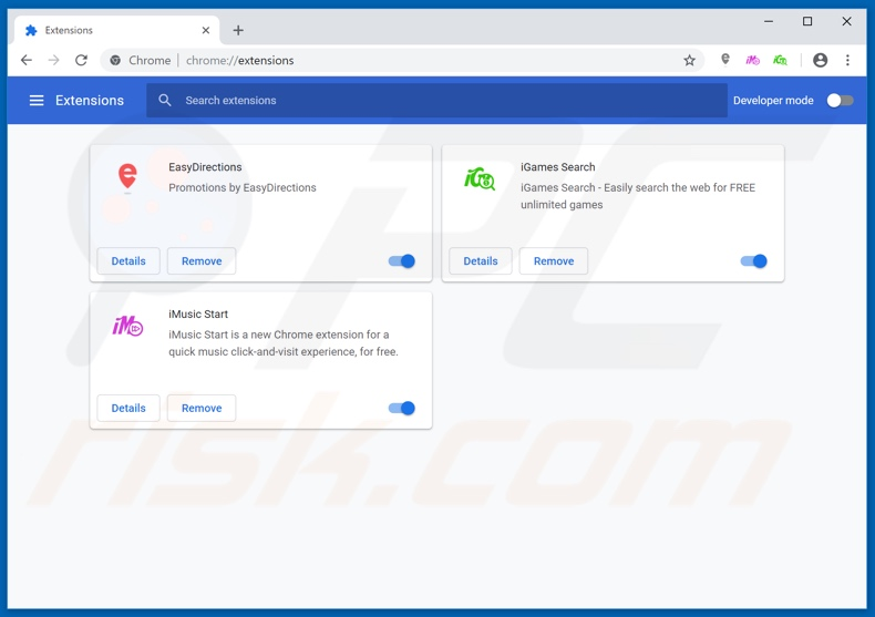 Removing MessengerPlus ads from Google Chrome step 2
