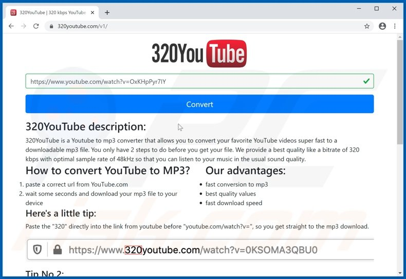 320youtube[.]com pop-up redirects