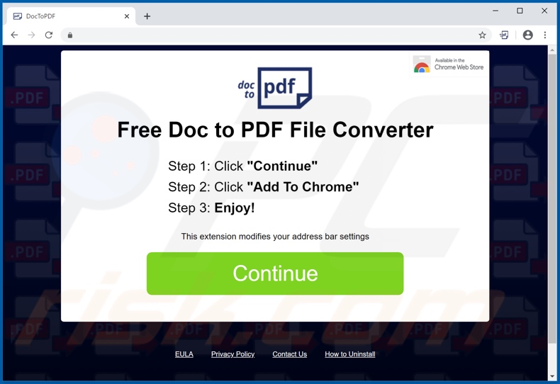 Easy conversion browser hijacker promoter