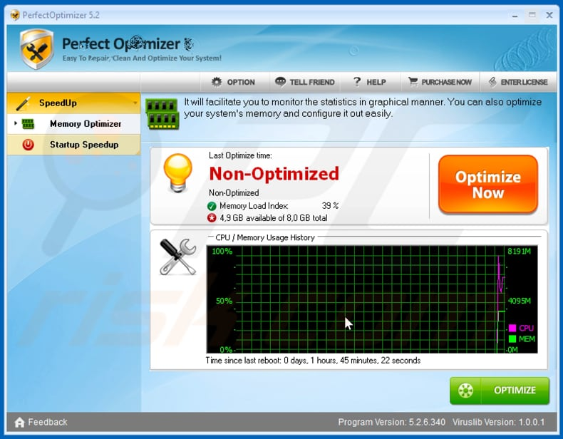 Perfect Optimizer unwanted application