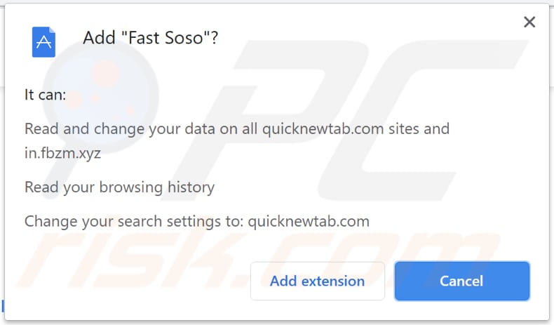 fast soso unwanted app asks for a permission to be installed