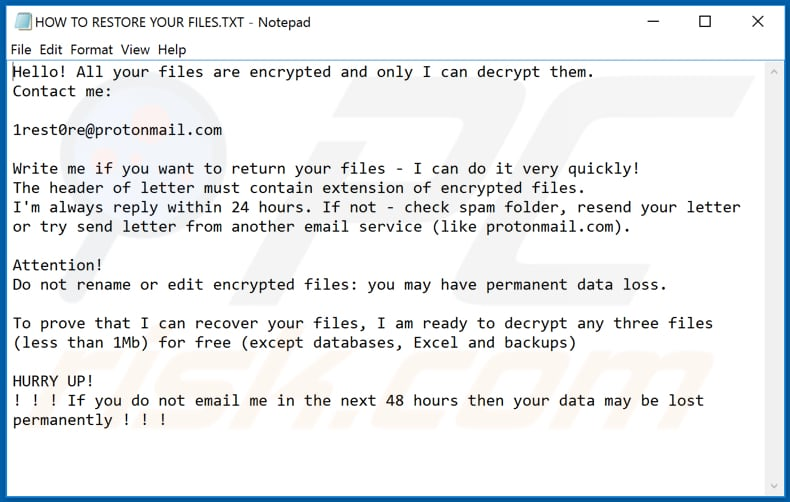 Sdkkxbh decrypt instructions (HOW TO RESTORE YOUR FILES.TXT)