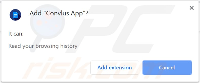 browser asks for a permission to install Convlus App