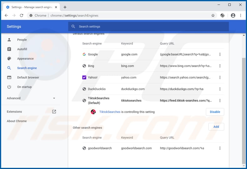 How To Get Rid Of Tiktoksearches Browser Hijacker Virus Removal Guide Updated
