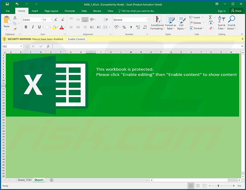 Malicious Excel file designed to inject Ursnif trojan (2020-06-11)