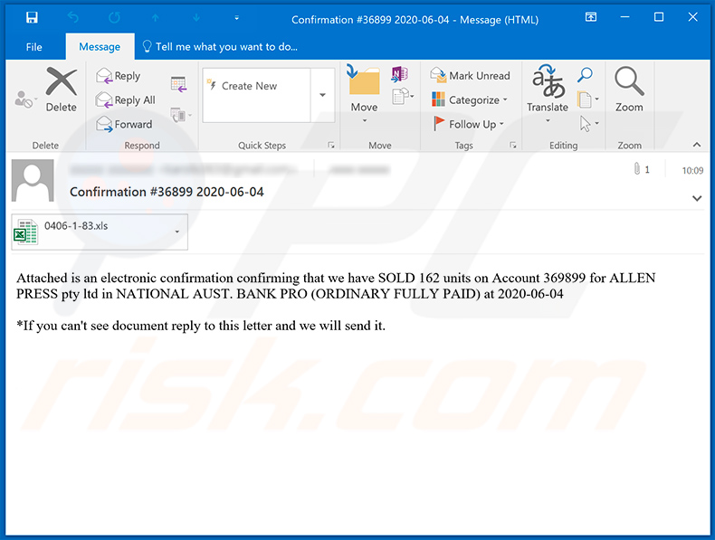 Spam email distributing Ursnif trojan